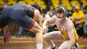 The Wyoming Cowboy Wrestling squad was defeated by the Nebraska Corn Huskers 22-12 on Nov. 18, 2018 in the Arena-Auditorium in Laramie, Wyoming.